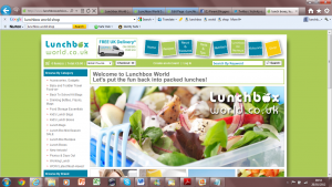 Lunchbox World e-commerce Shop