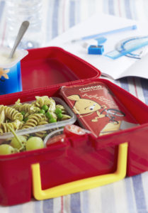 kids chicken pasta salad lunch box