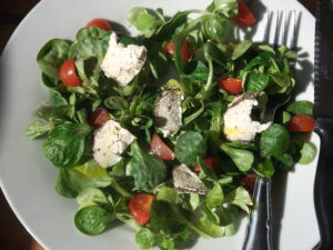 Simple Goats Cheese Salad