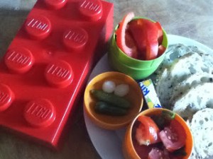 For Lunch Today: A LEGO lunch box