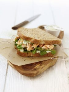 Salmon and Watercress sandwich