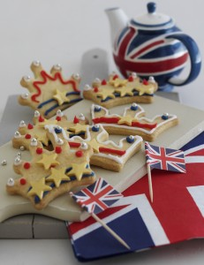 Jubilee shortbread biscuits
