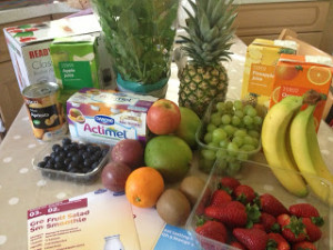 Lunchbox Idea – Actimel Smoothies