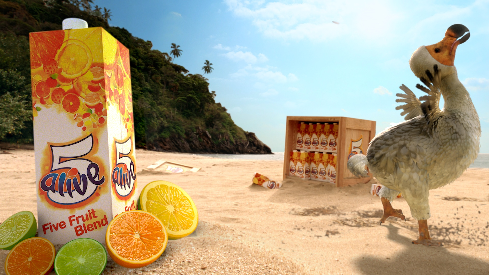 5 Alive The Fun And Fruit Packed Breakfast Juice Drink Is Back With A Nd New Quirky Tv Ad Featuring A Dancing Dodo And And New Apple Variant