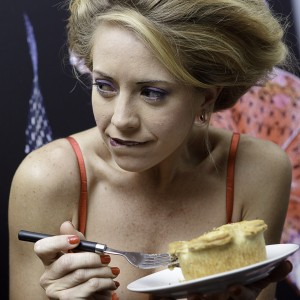 Models eating Sainsbury's pies while preparing for London Fashion Week