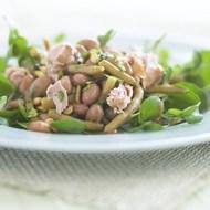 Borlotti Bean and Tuna Salad with Pine Nuts