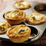 Caramelised Onion Goats Cheese Thyme Tartlets