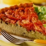 Cheddar and Tomato Quiche