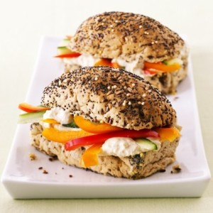 Crunchy Veg and Hummus Subs
