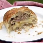 Grandma Jessies Sausage and Apple Pie