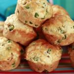 Pea Ham and Cheese Muffins