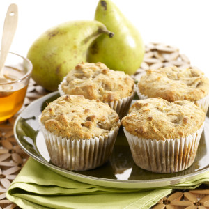 Pear and Honey Muffins