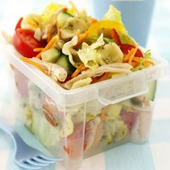 Shake and Serve Chicken Pasta Crunchy Salad