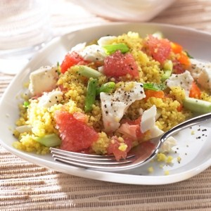 Spring Salad Couscous Florida Grapefruit Feta