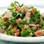 Tuna Radish Salad with Soy Honey Dressing
