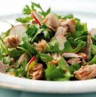 Tuna Radish Salad with Soy Honey Dressing