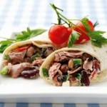 Tuna and Mixed Bean Tortilla Wrap
