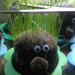 Kids Craft : Grass Head Family Need A Haircut!