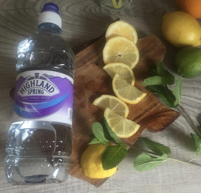 hydration tips lemon in water