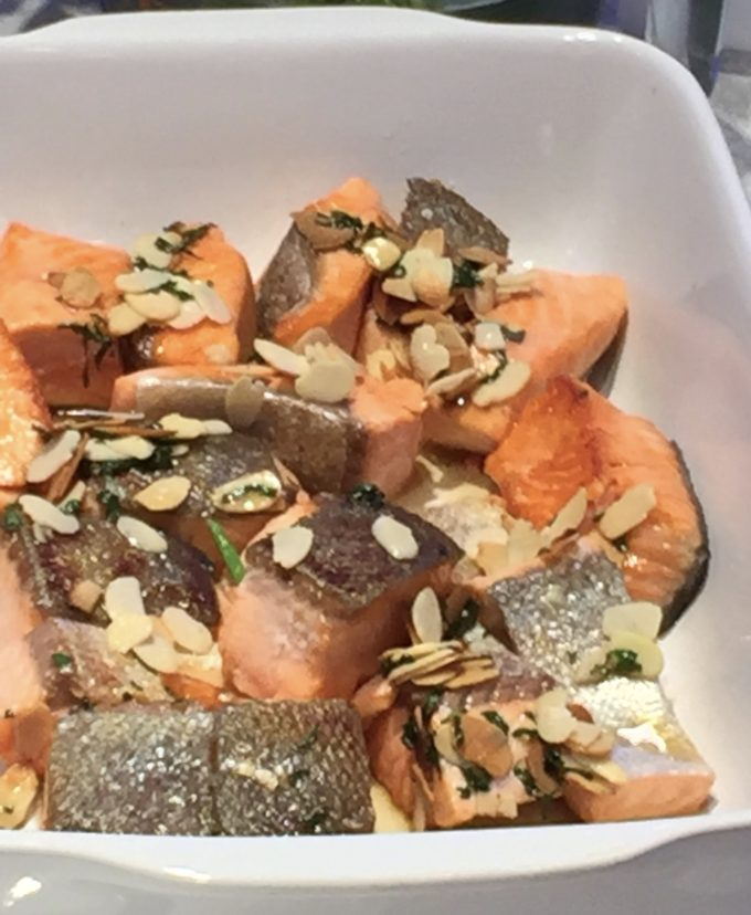 pan-fried fjord trout almonds
