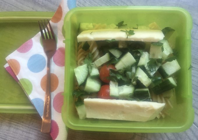healthy lunchbox challenge pasta salad