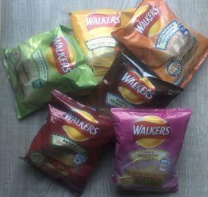 Walkers Crisps Sandwich Flavours