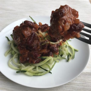 mid week meal with Dolmio chilli con carne meatballs courgette spiralli Lunchbox World