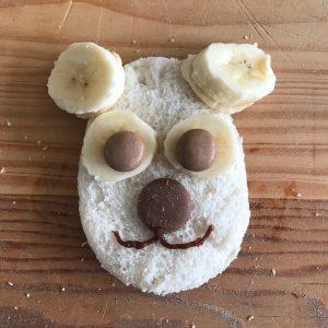 quick and easy polar bear lunch idea