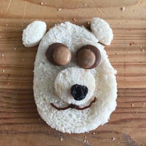 easy lunch idea - teddy bear
