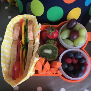 inspiring lunch box idea with rainbow colours